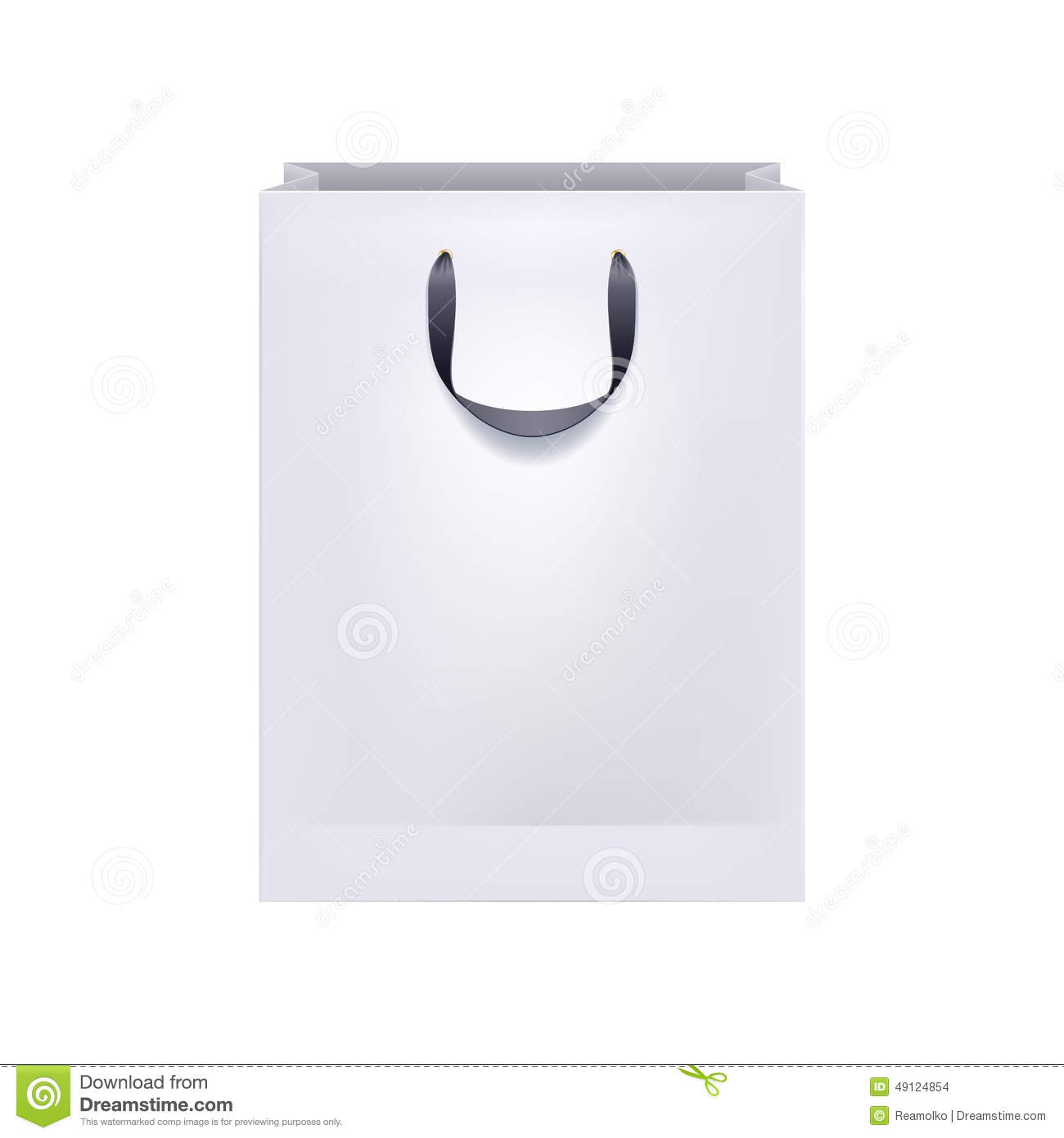 Blank White Paper Bag With Black Handles. Stock Vector ...White Paper Bag Vector