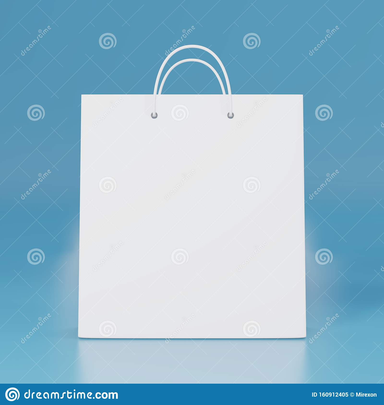 Blank White Paper Bag With Isolated 3d Rendering Empty Gift Carry Pack Template Shopping Packet Mock Up Stock Illustration Illustration Of Christmas Design 160912405