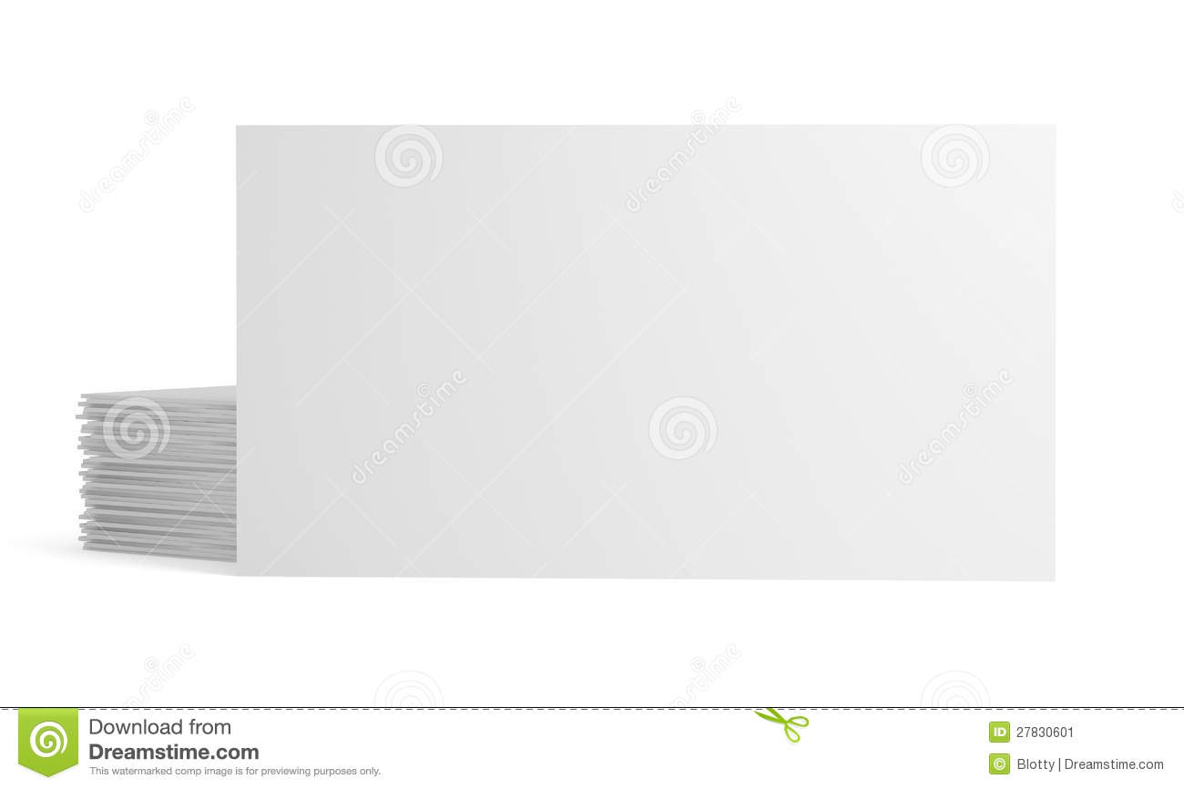 Blank white paper business card stock illustration illustration blank white paper business card reheart Choice Image