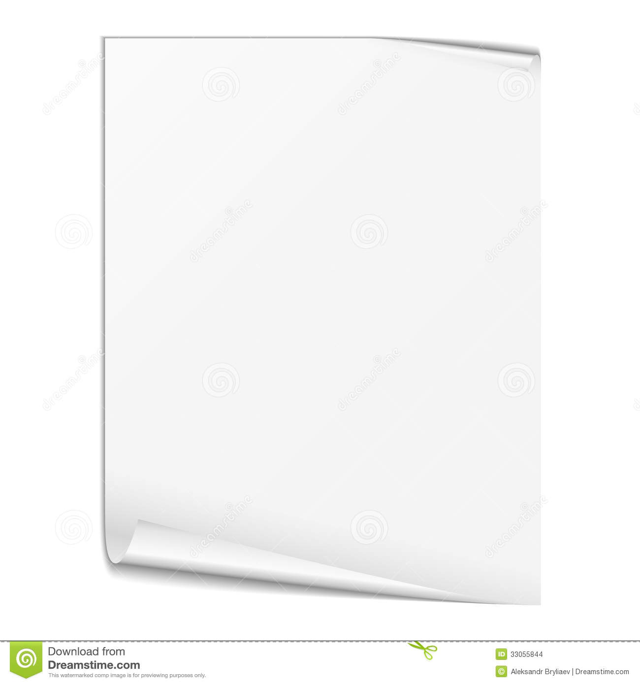 blank white paper