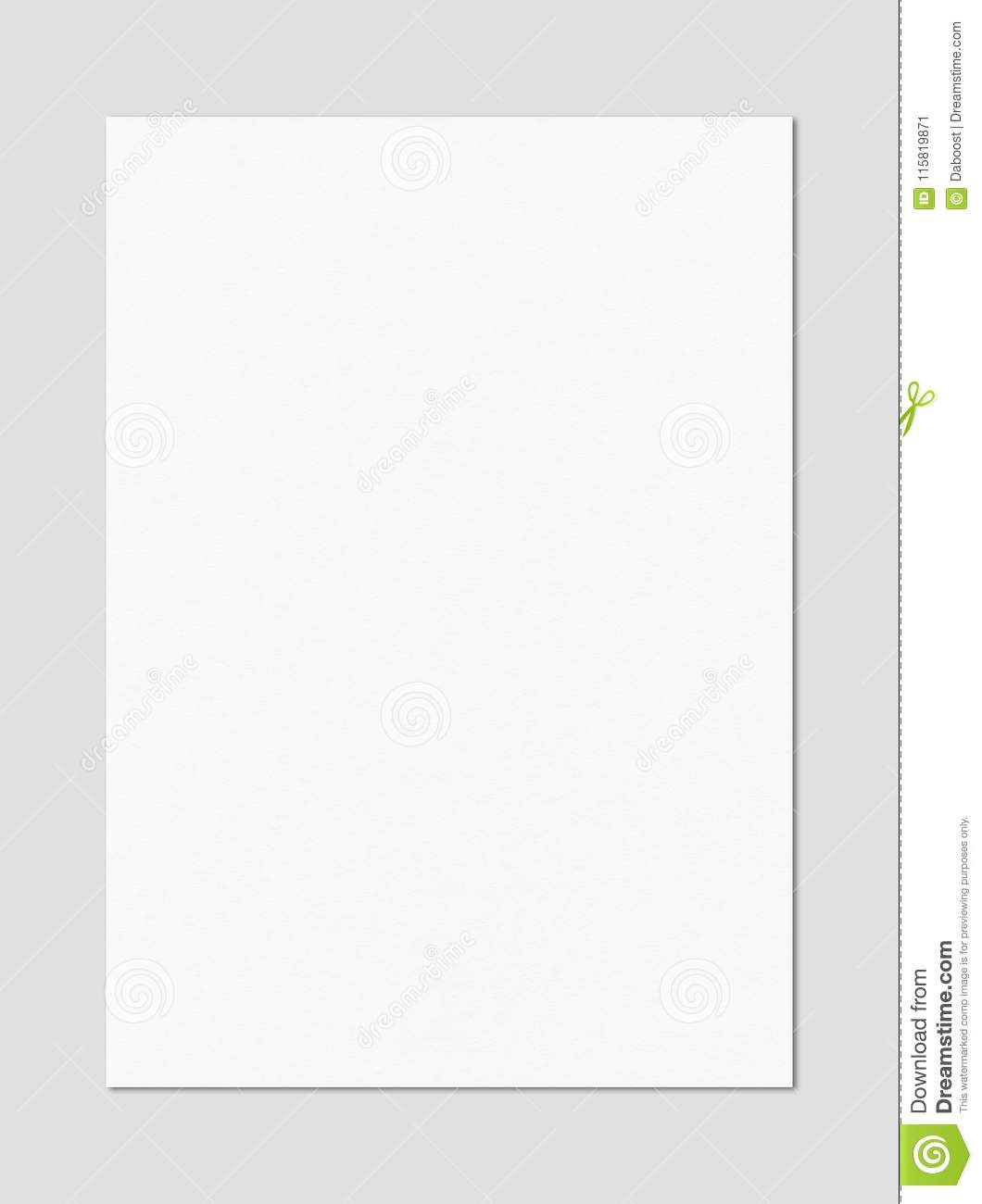 blank white a4 paper sheet mockup template stock image image of