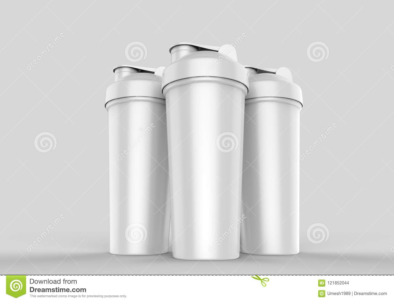 blank white plastic shaker bottle for mock up and template design