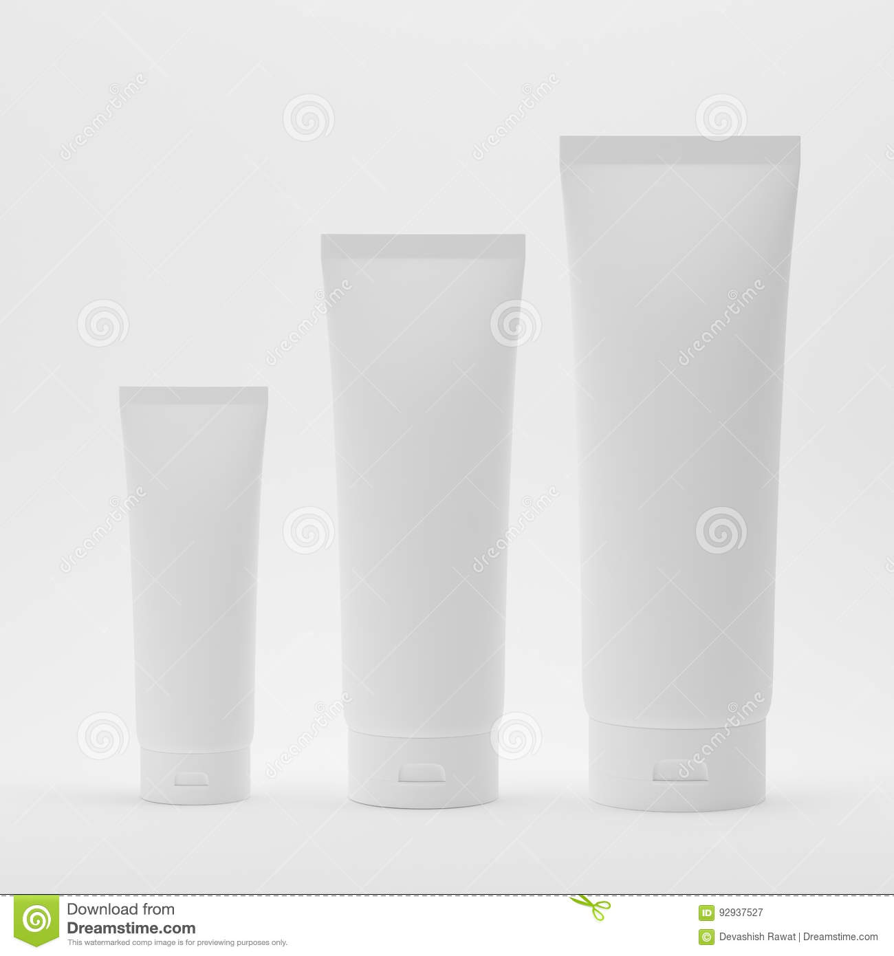 Blank White Plastic Tube For Cosmetic Body Wash Shampoo Face Wash