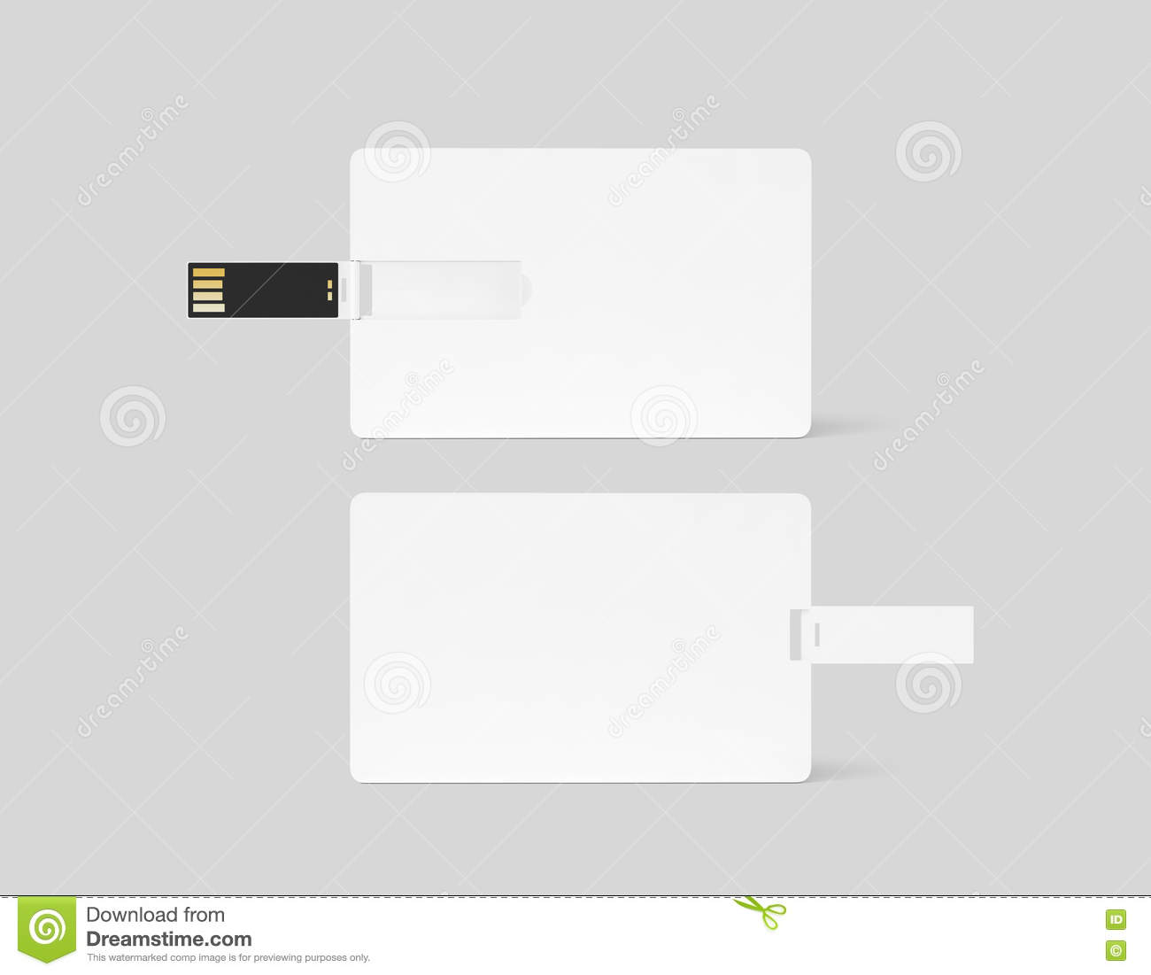 Blank White Plastic Wafer Usb Card Design Mockup Stock Image - Image ...
