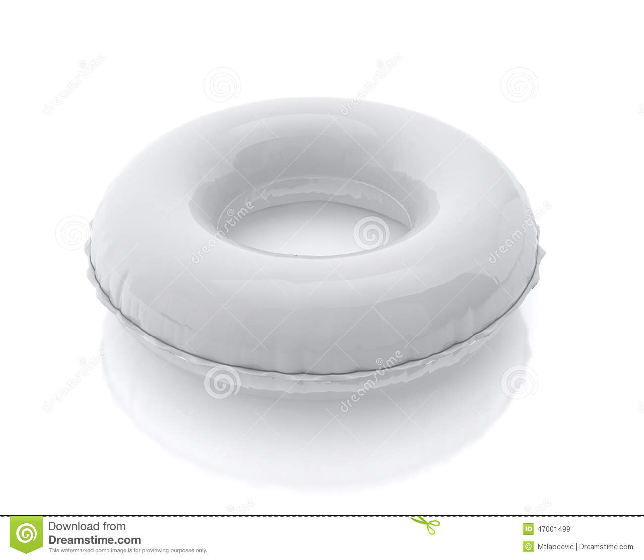Blank White Pool Ring Isolated On White Background Stock
