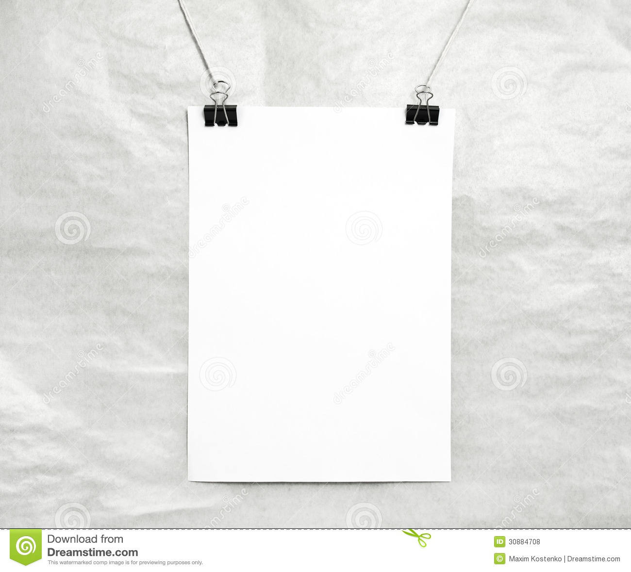 Blank White Poster Royalty Free Stock Photos Image 30884708