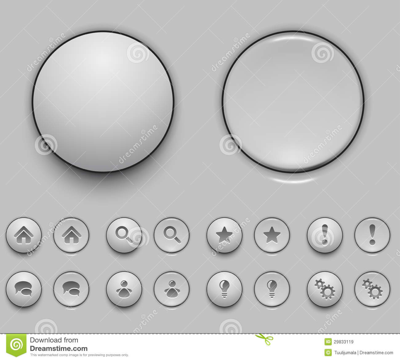 blank white push button template stock vector image 29833119. Black Bedroom Furniture Sets. Home Design Ideas