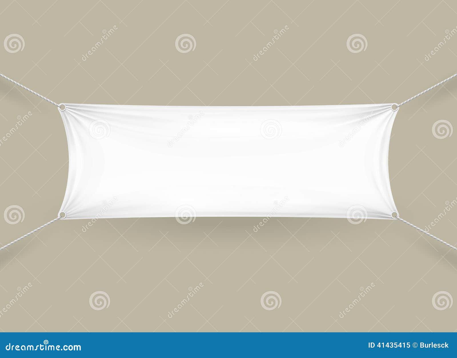 Blank White Rectangular Horizontal Banner Stock Vector