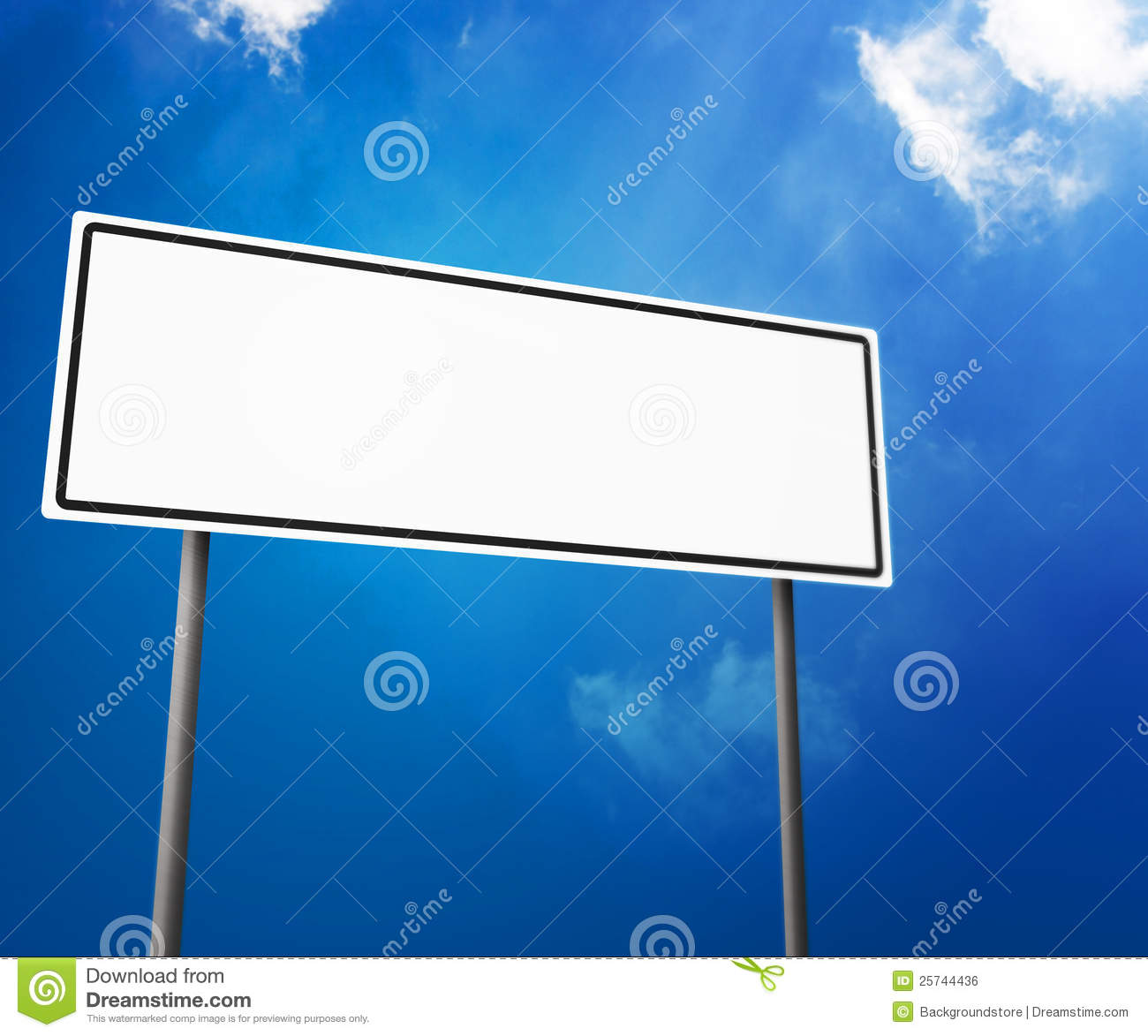Blank White Road Sign Isolated on White