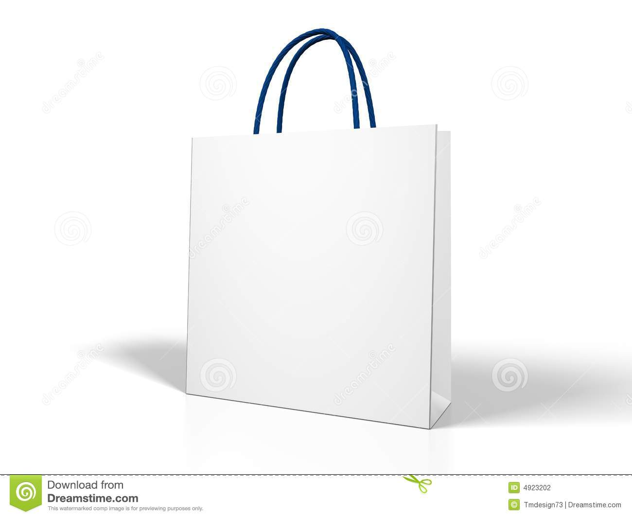 Blank White Shopping Bag Stock Photography - Image: 4923202