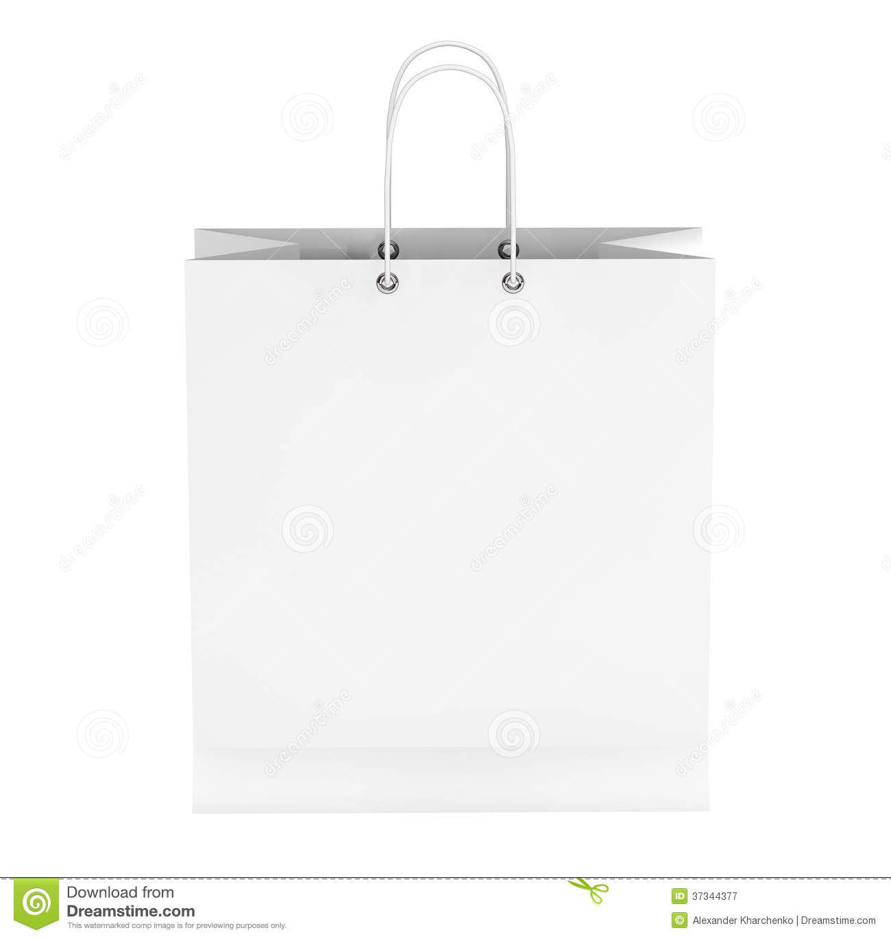 Blank White Shopping Bag Royalty Free Stock Photography - Image ...