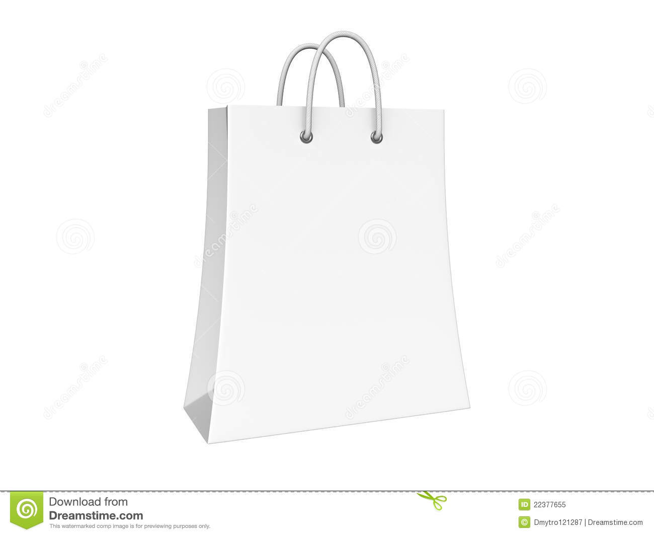 Blank Shopping Bag Isolated Royalty Free Stock Images - Image ...