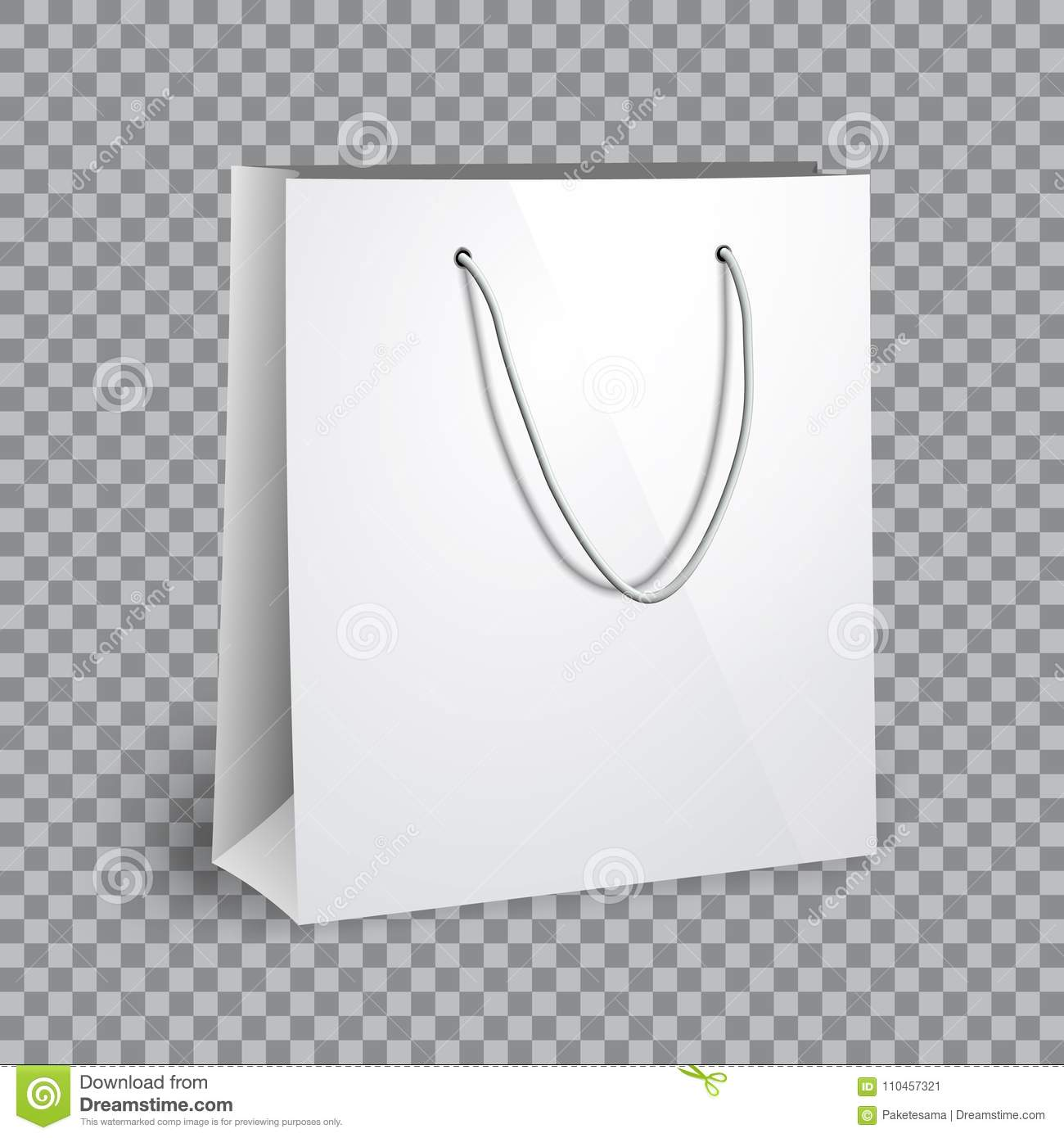 blank white shopping bag mockup stock vector illustration of gift