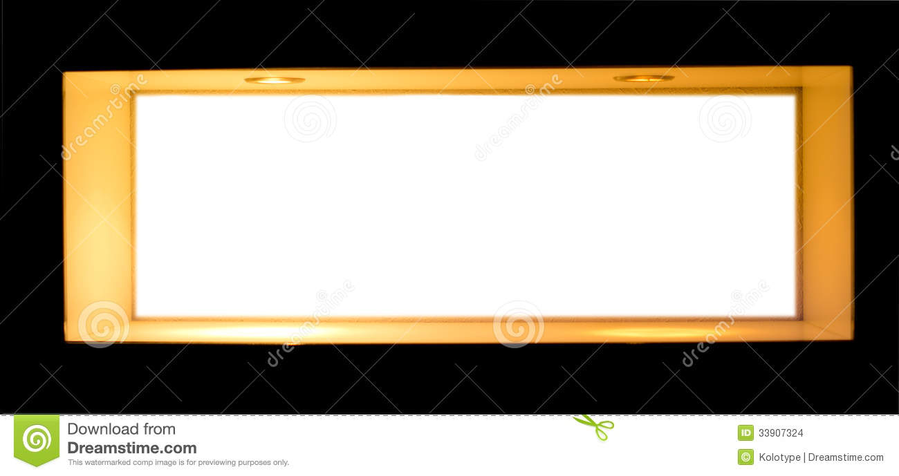 Blank White Sign In A Wooden Frame Stock Photo - Image of interior ...