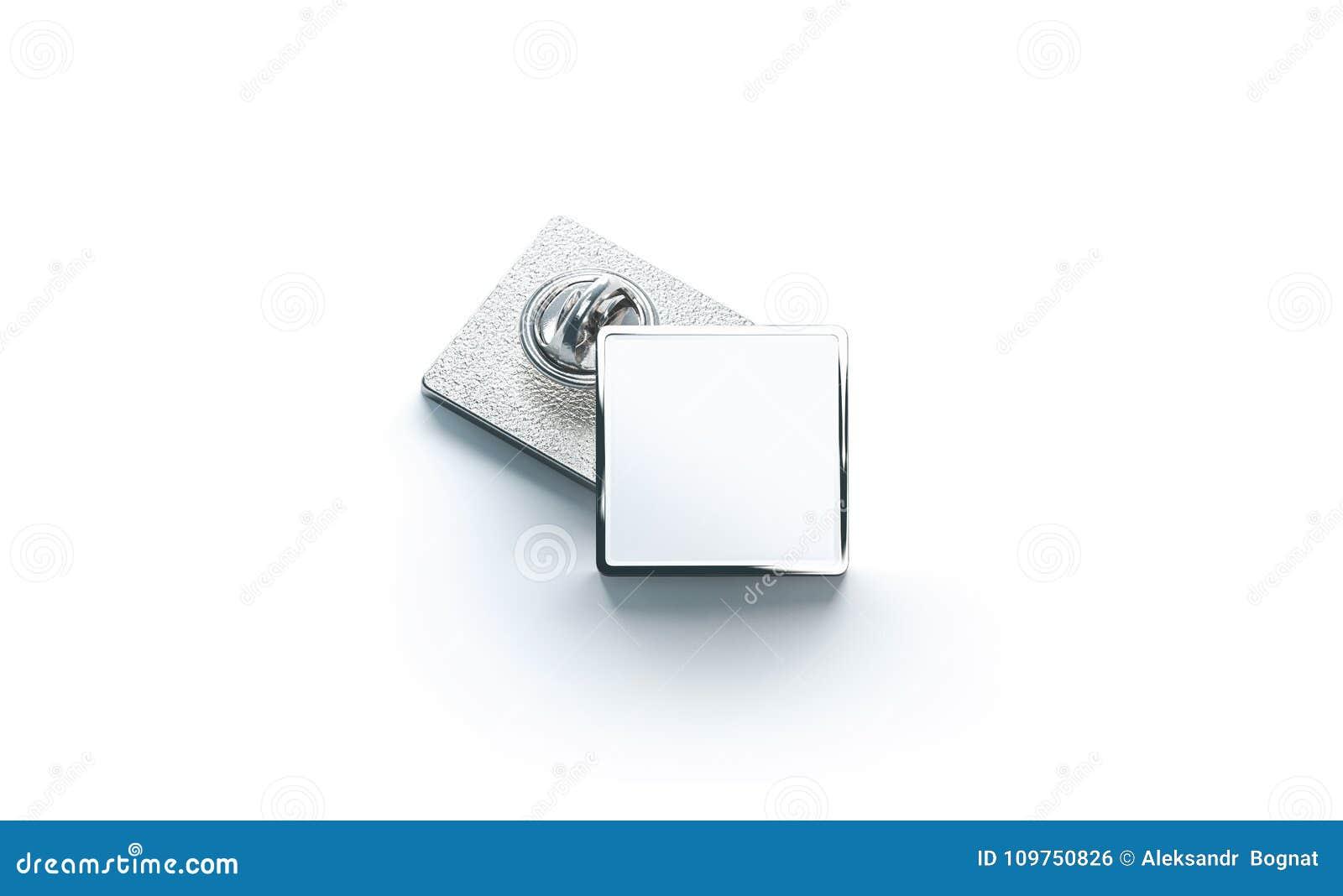 Blank White Silver Lapel Badge Mock Ups Stack 3d Rendering Empty Luxury Hard Enamel Pin Mockup Metallic Clasp Design Template