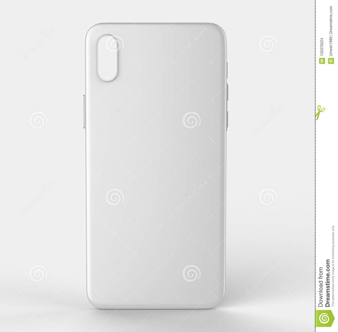 blank white smart phone x mobile back cover or case for design