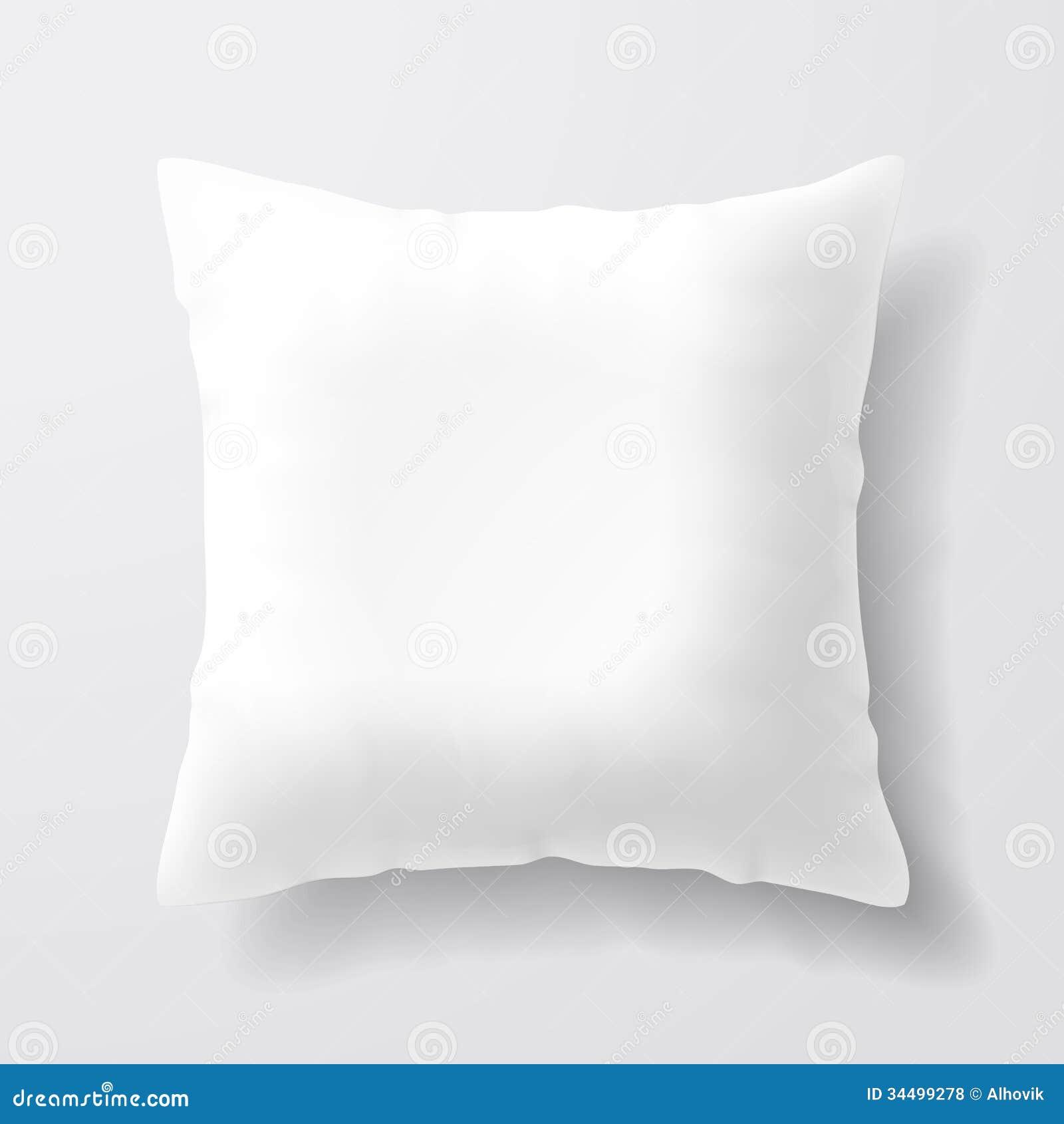 Blank White Square Pillow Royalty Free Stock Photos ...