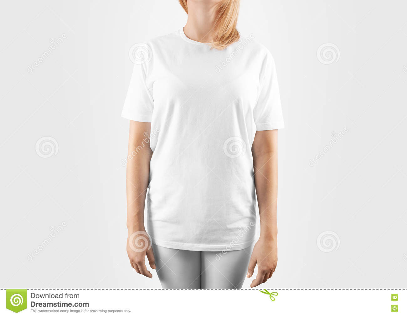 T shirt white mockup - Blank White T Shirt Design Mockup Clipping Path Stock Photo