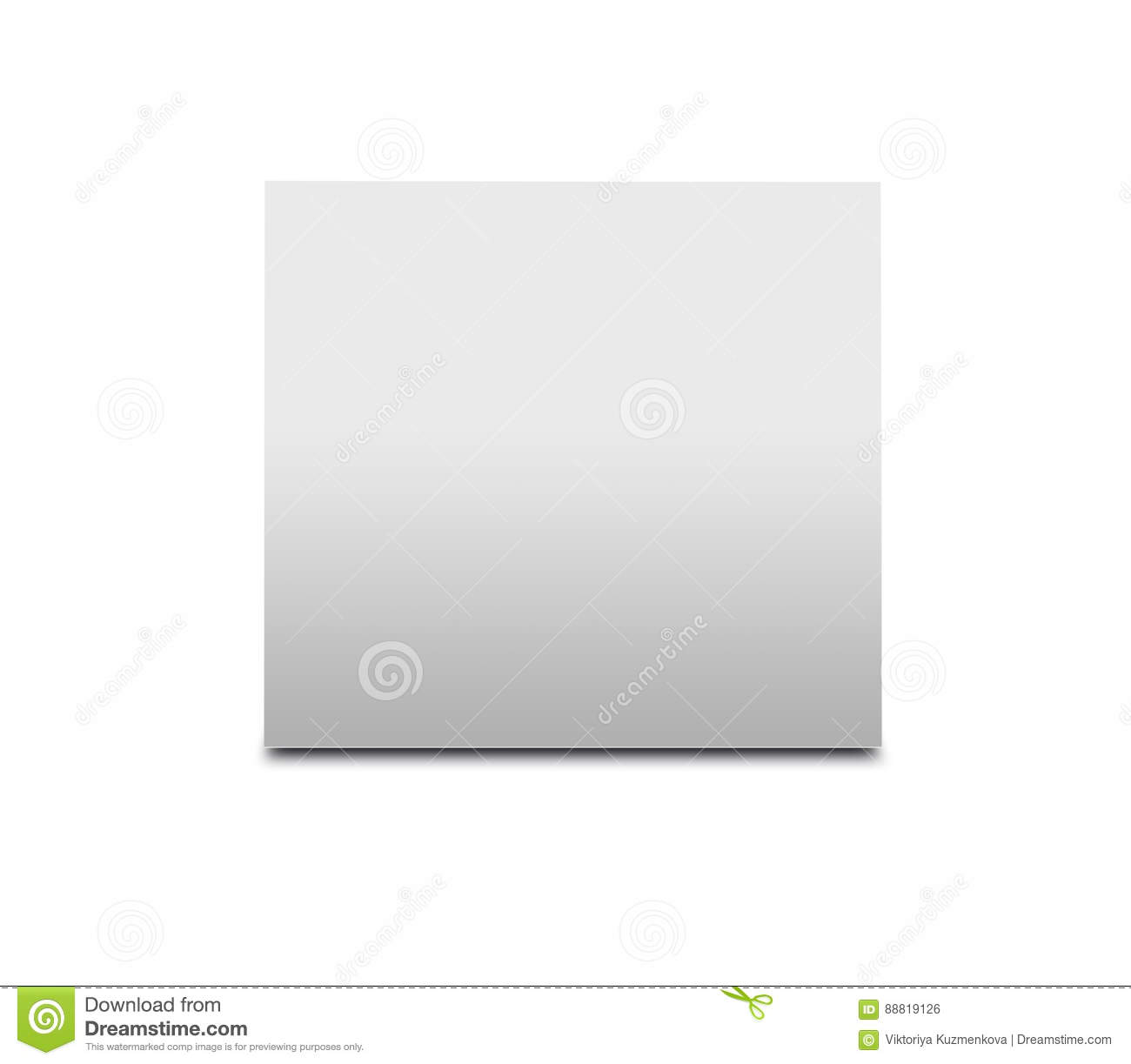blank white table tent on white paper vertical cards isolated stock