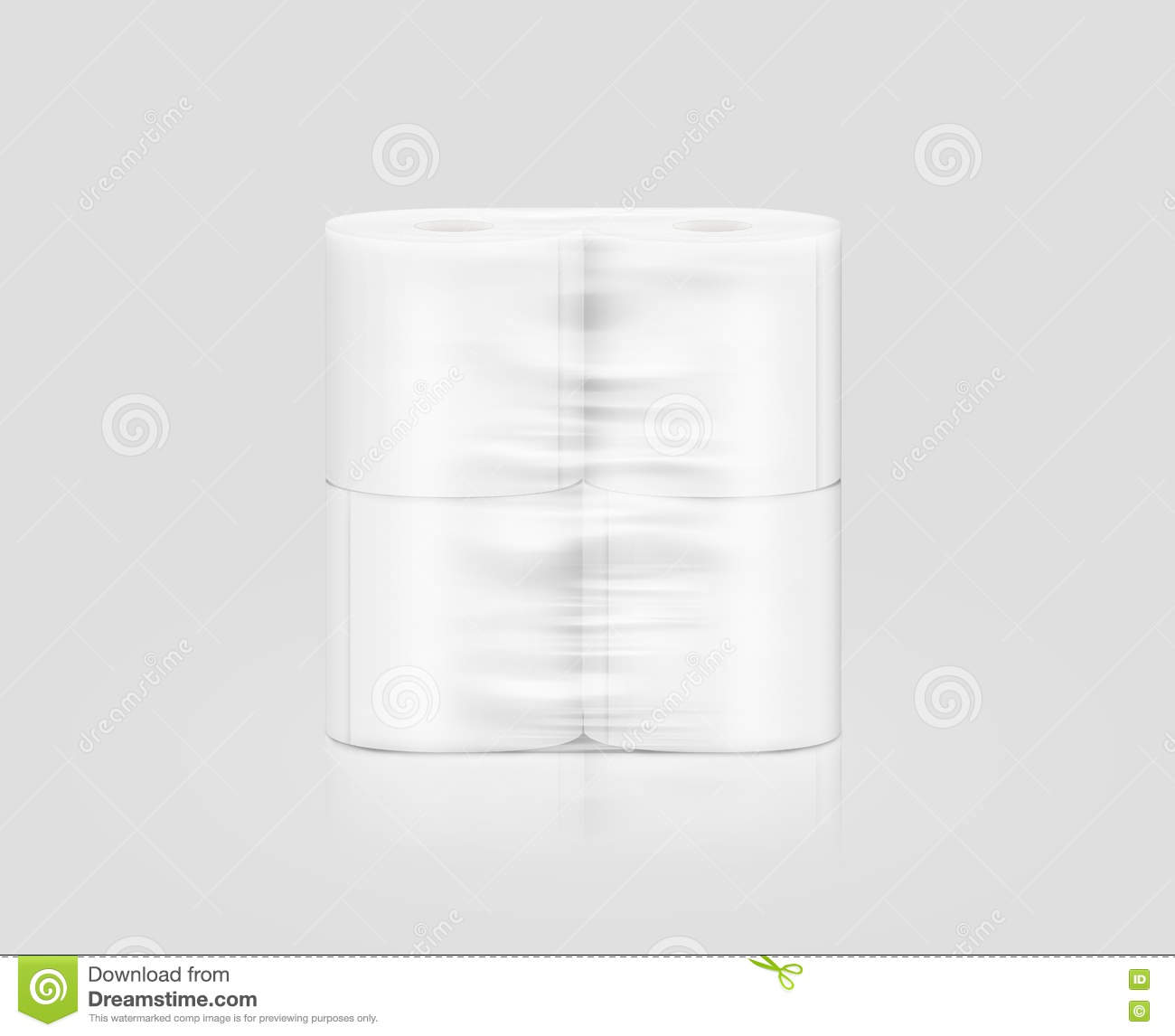 Blank White Toilet Paper Roll Packaging Mockup Clipping