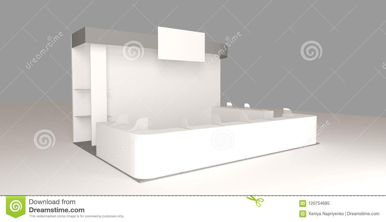 Exhibition Booth Blank : Trade show booth white and blank blank indoor exhibition with