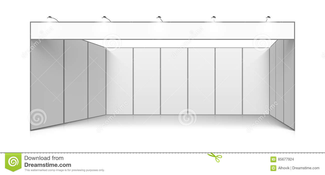 Exhibition Booth Blank : Blank white trade exhibition booth system stand stock