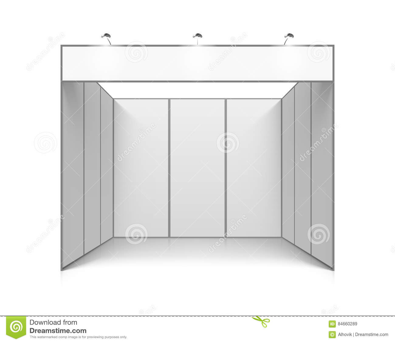 Exhibition Booth Blank : Blank white trade exhibition stand cartoon vector