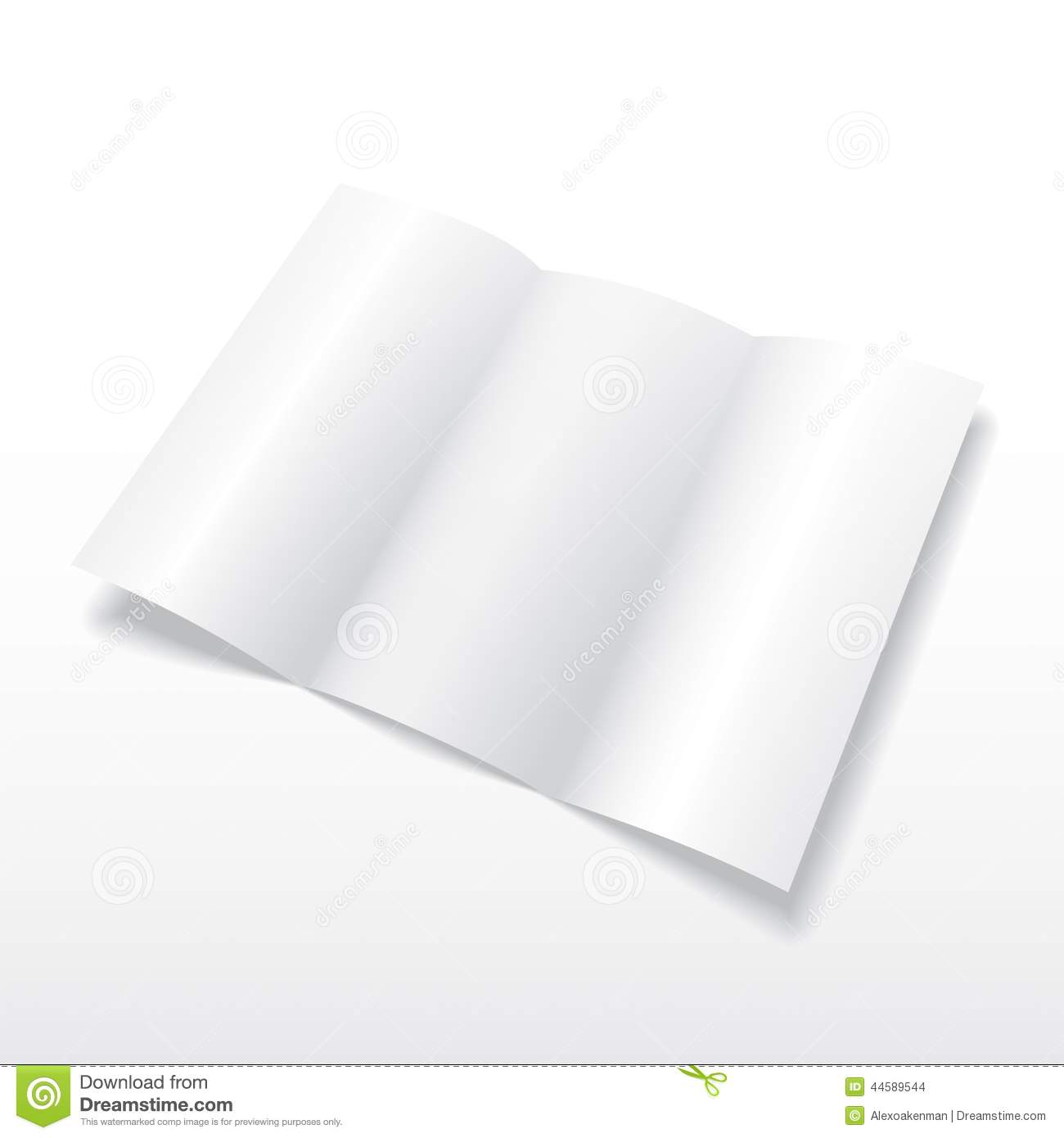 Trifold white template paper vector illustration vector for Paper brochure holder template
