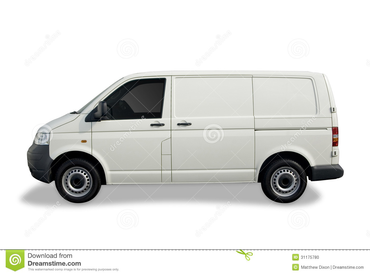 blank white van stock photo image of transport transportation