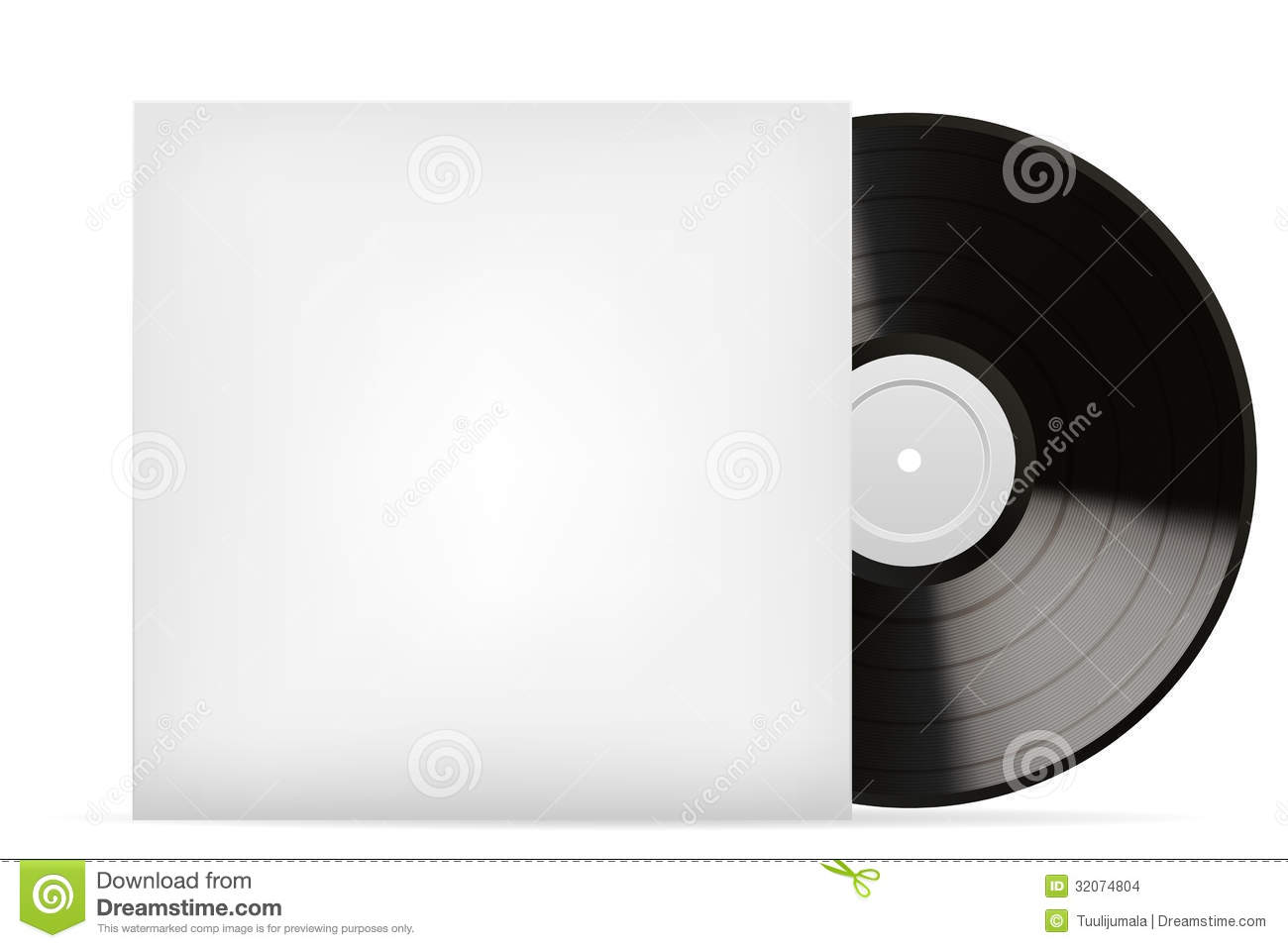 Blank White Vinyl Cover Stock Vector Illustration Of Case 32074804