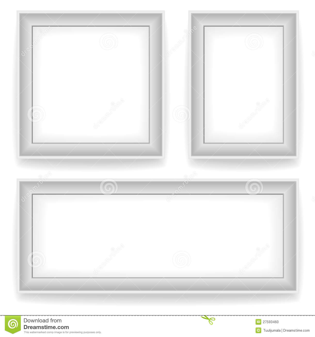 Blank white wall picture frames stock photo image 27593460 - White wall picture frames ...