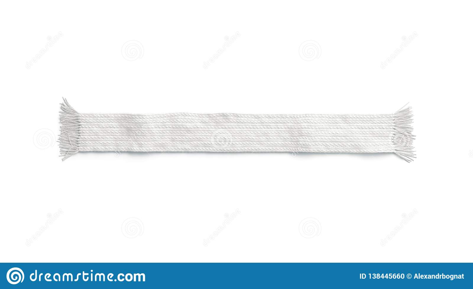 Blank White Wool Knitted Scarf Mockup, Isolated Stock