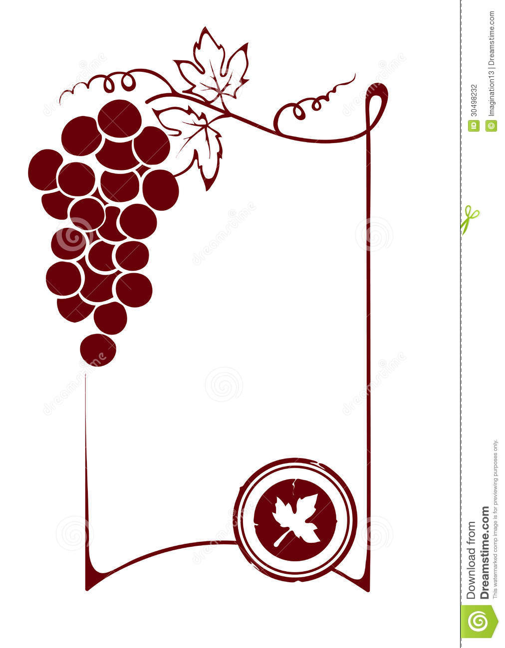 The Blank Wine Label Stock Photography Image 30498232