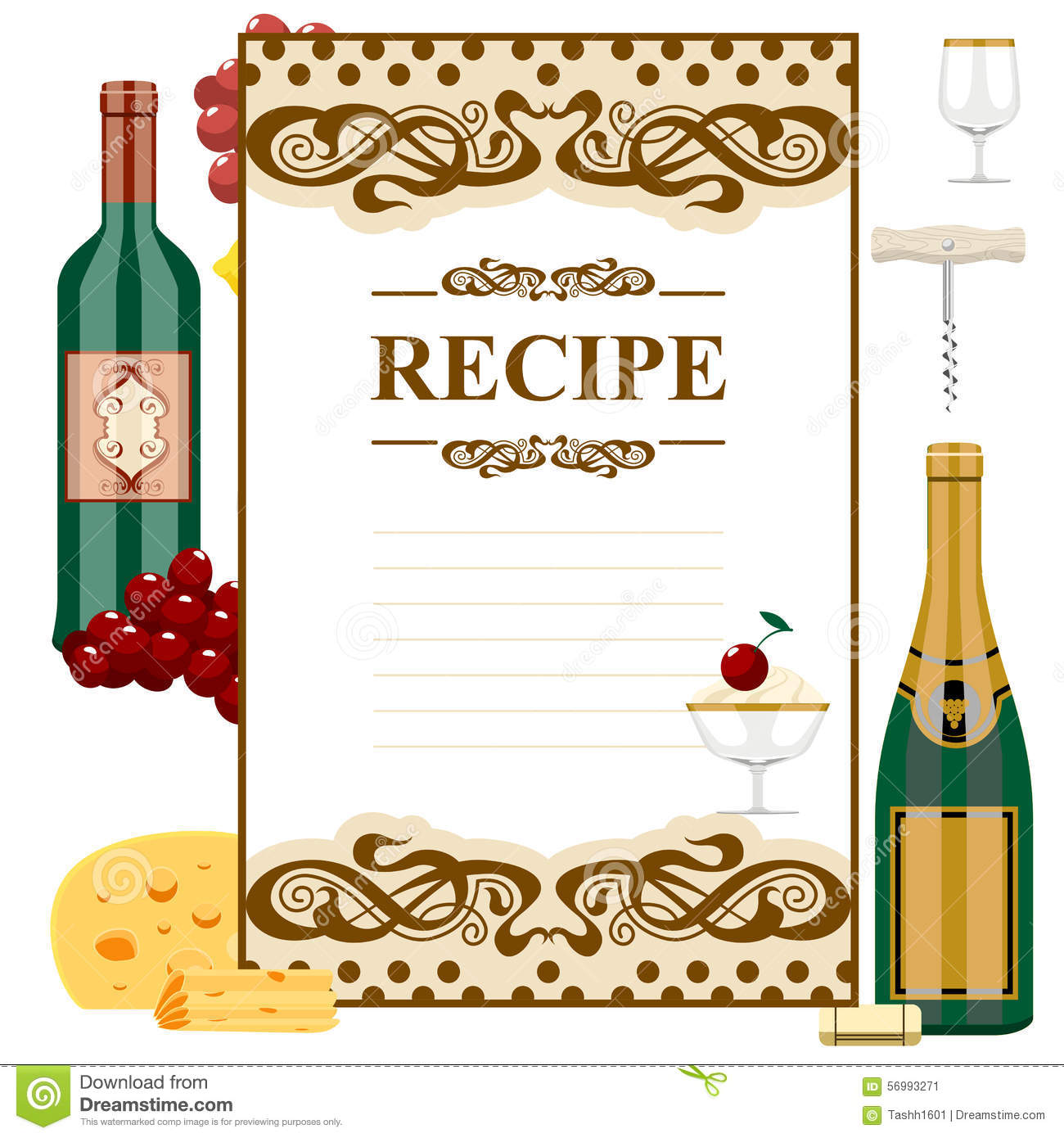 blank for wine list stock vector. illustration of grapes - 56993271