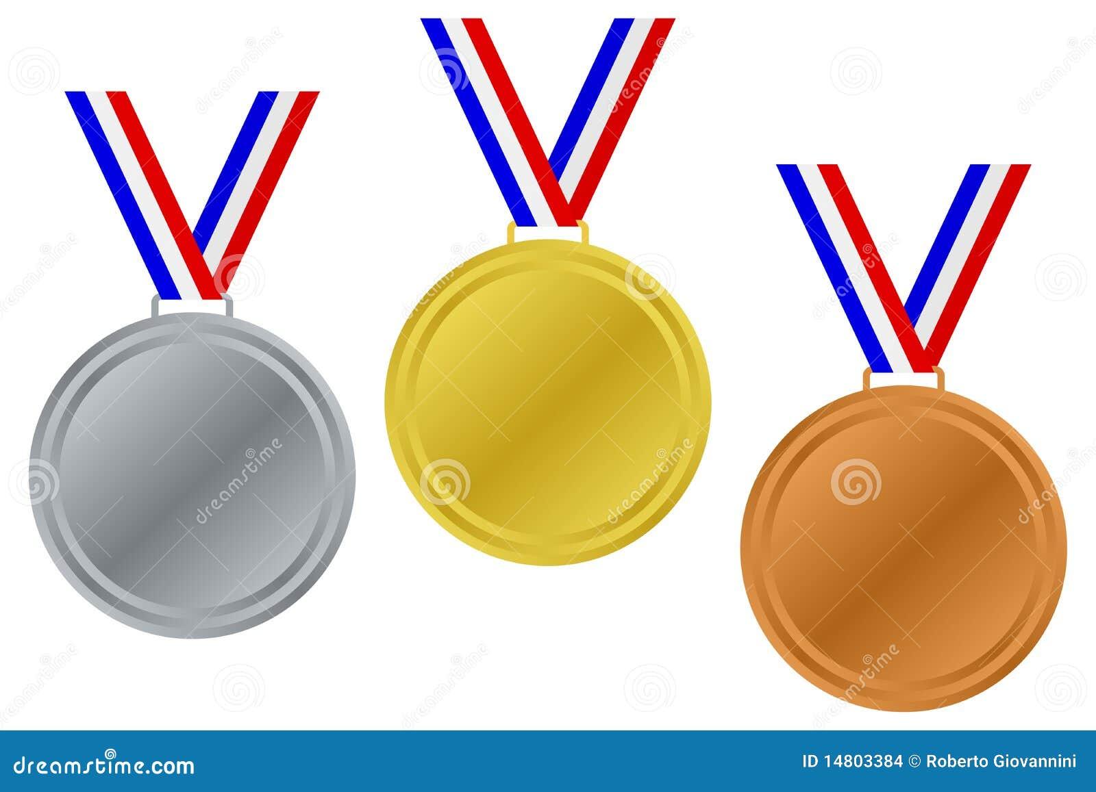 Blank Winner Medals Set