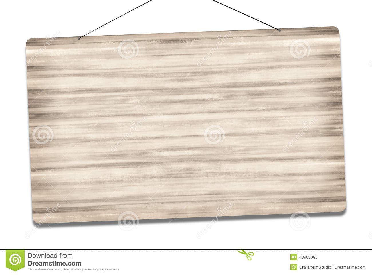Blank Wooden Sign Graphic
