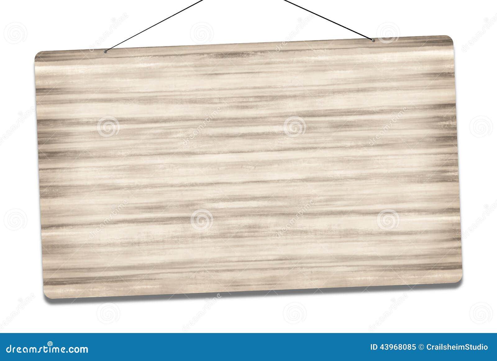 Blank Wood Sign Stock Illustration - Image: 43968085
