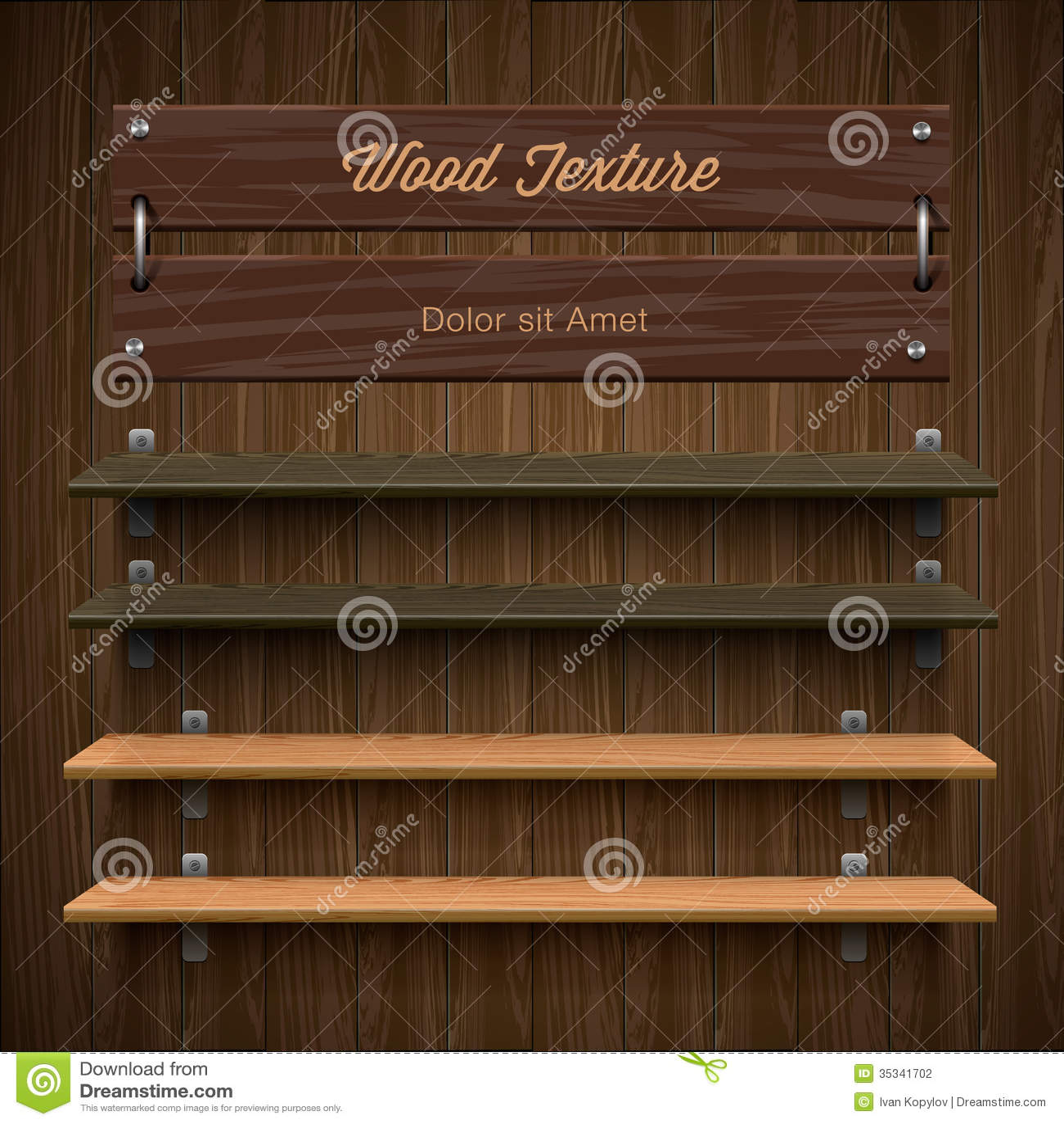 Blank Wooden Bookshelf Stock Photography - Image: 35341702