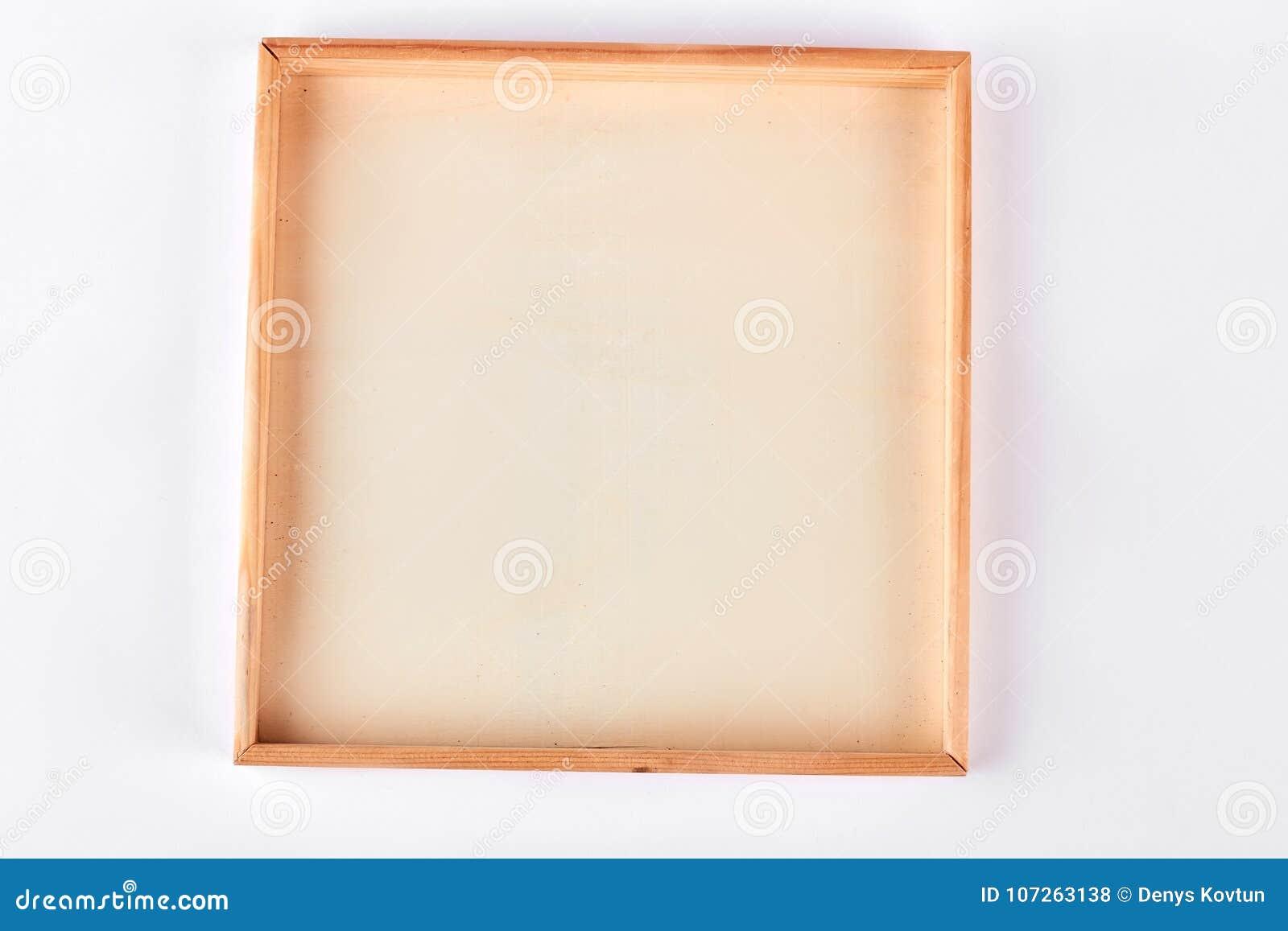 Blank wooden frame white background stock photo image of image blank wooden frame white background jeuxipadfo Gallery