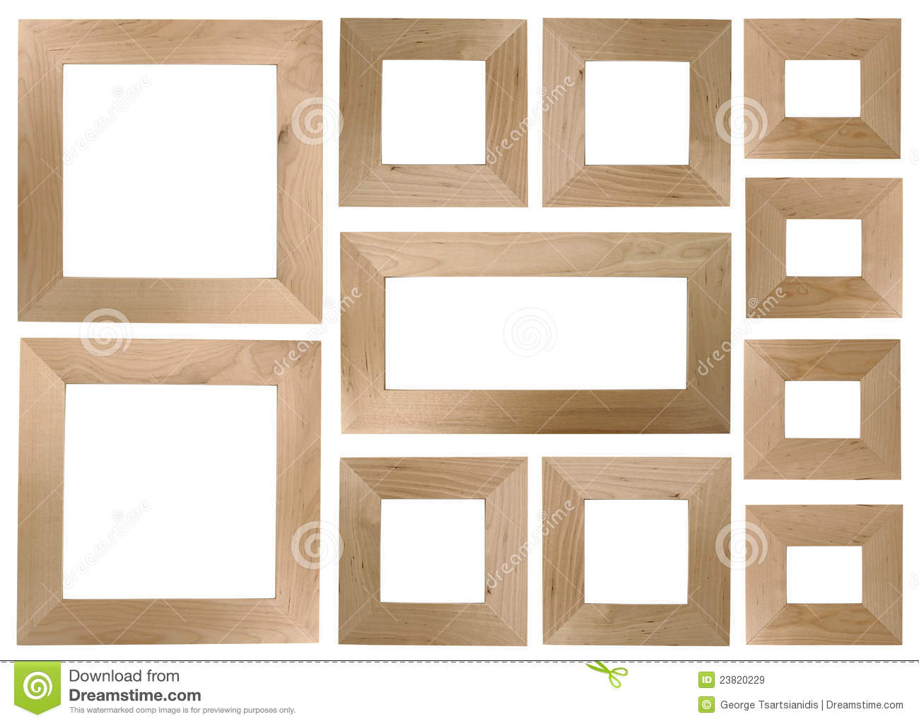 Blank Wooden Frames Royalty Free Stock Images Image