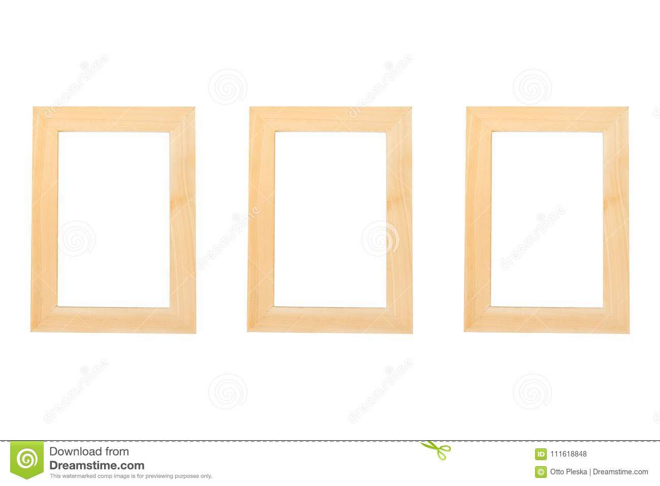 Blank Wooden Frames On The White Background Stock Photo - Image of ...
