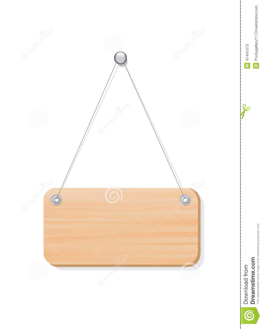 Blank wooden label board hanging from a nail by st stock vector blank wooden label board hanging from a nail by st ccuart Choice Image