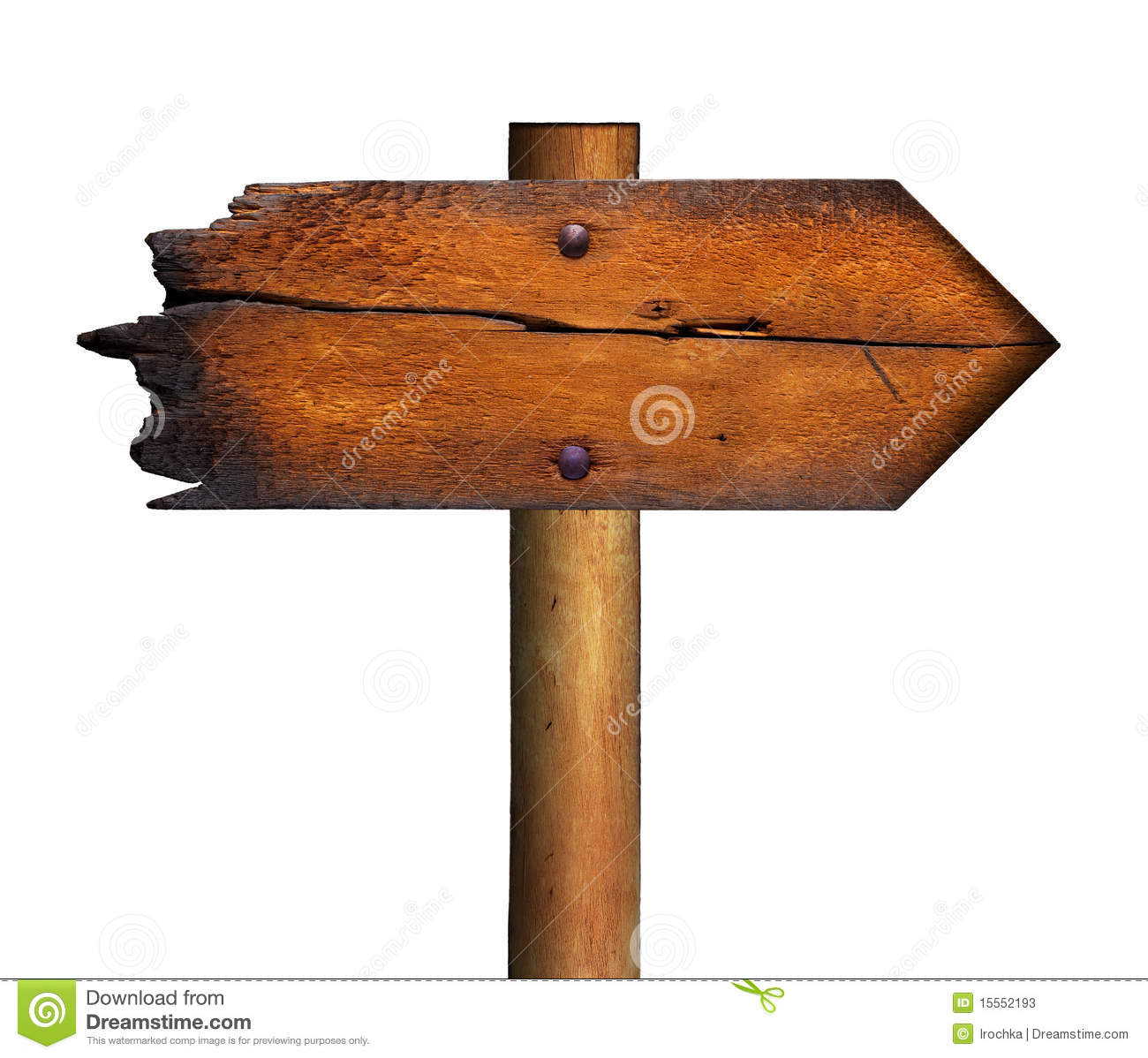 Blank Wooden Sign Stock Photos - Image: 15552193