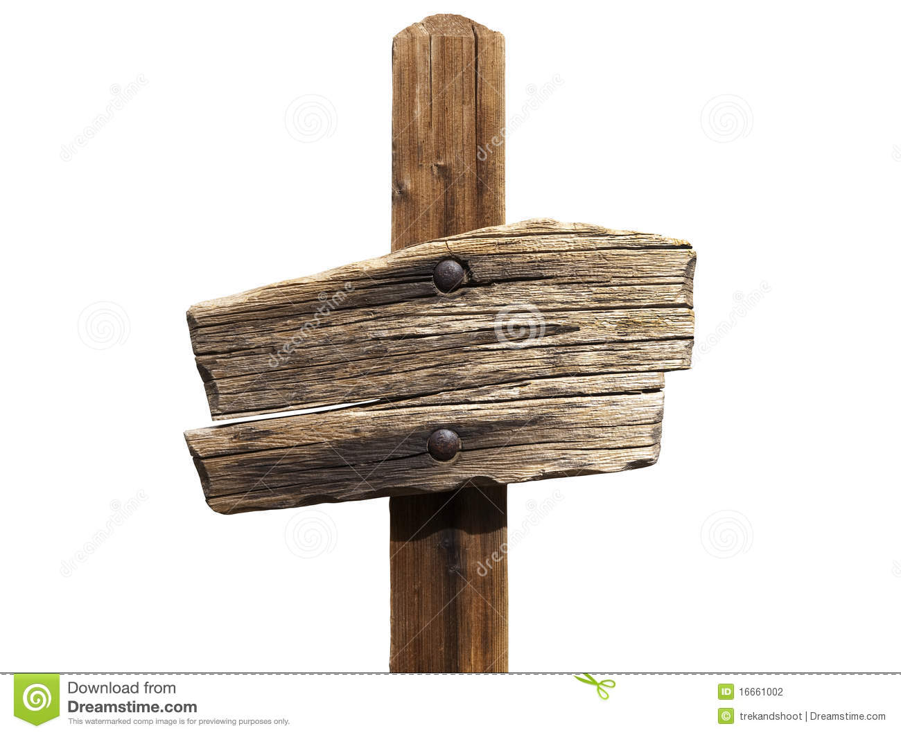 Blank wooden sign stock photo image of aged retro post