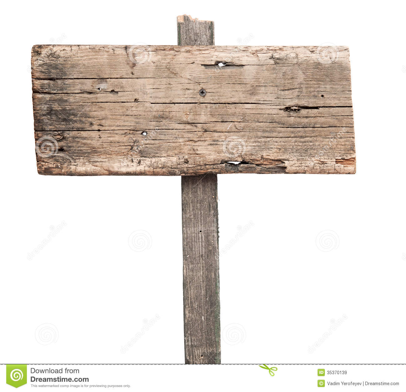 Blank wooden sign stock image of empty billboard