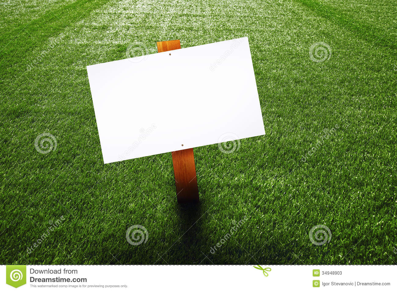 Blank Wooden Sign On The Lawn Stock Image Image Of Copy