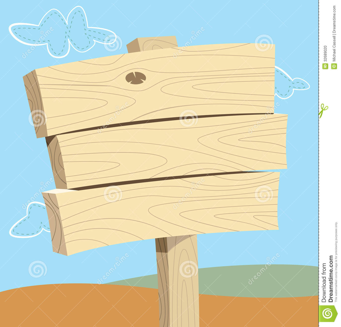 Blank wooden sign stock photo image