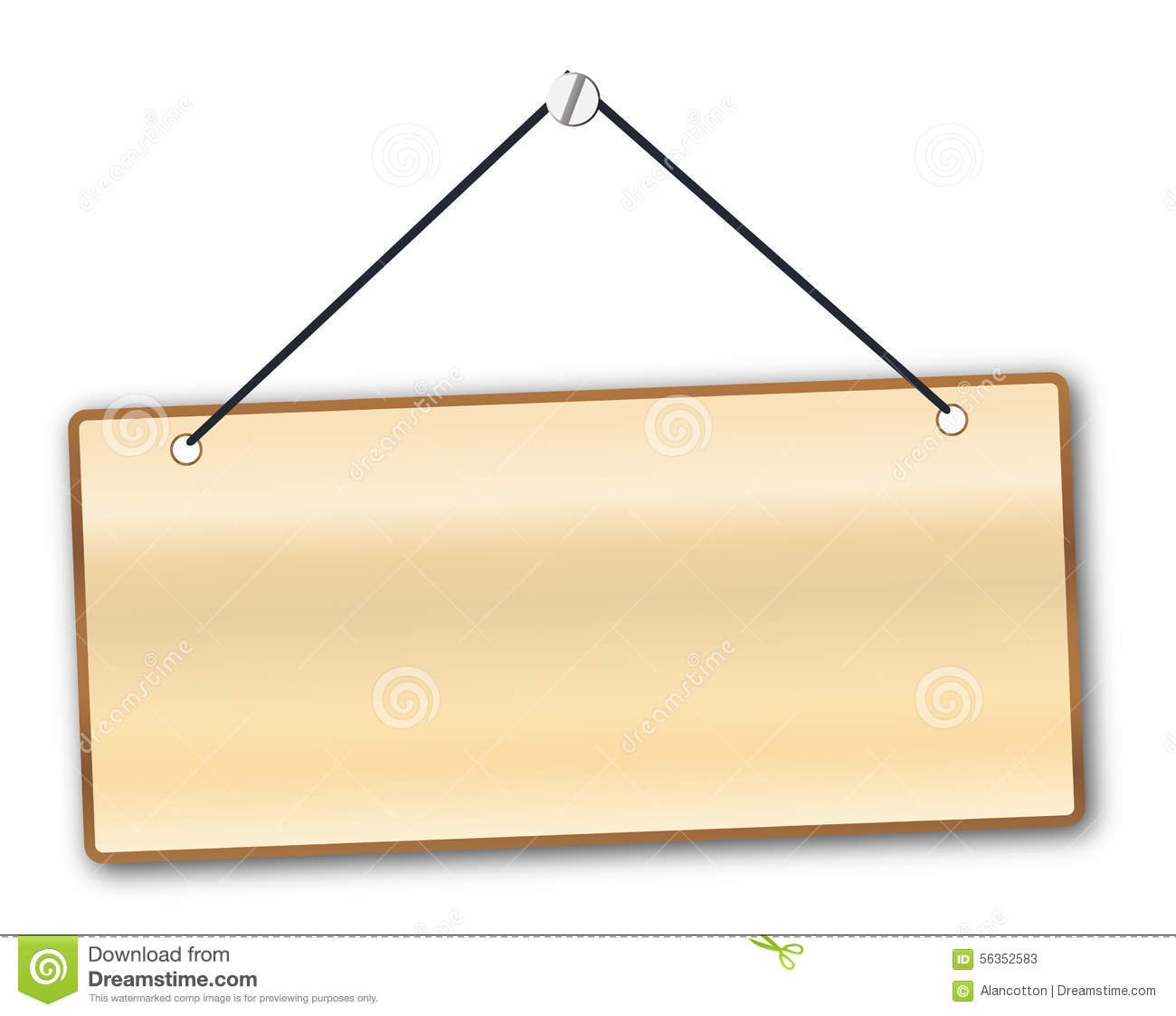 Hanging Blank Wooden Sign Stock Illustrations 2216 Hanging Blank