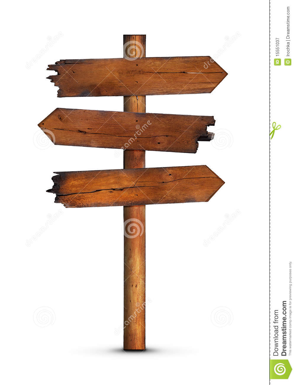 Blank Wooden Signpost Royalty Free Stock Photography - Image: 15551037