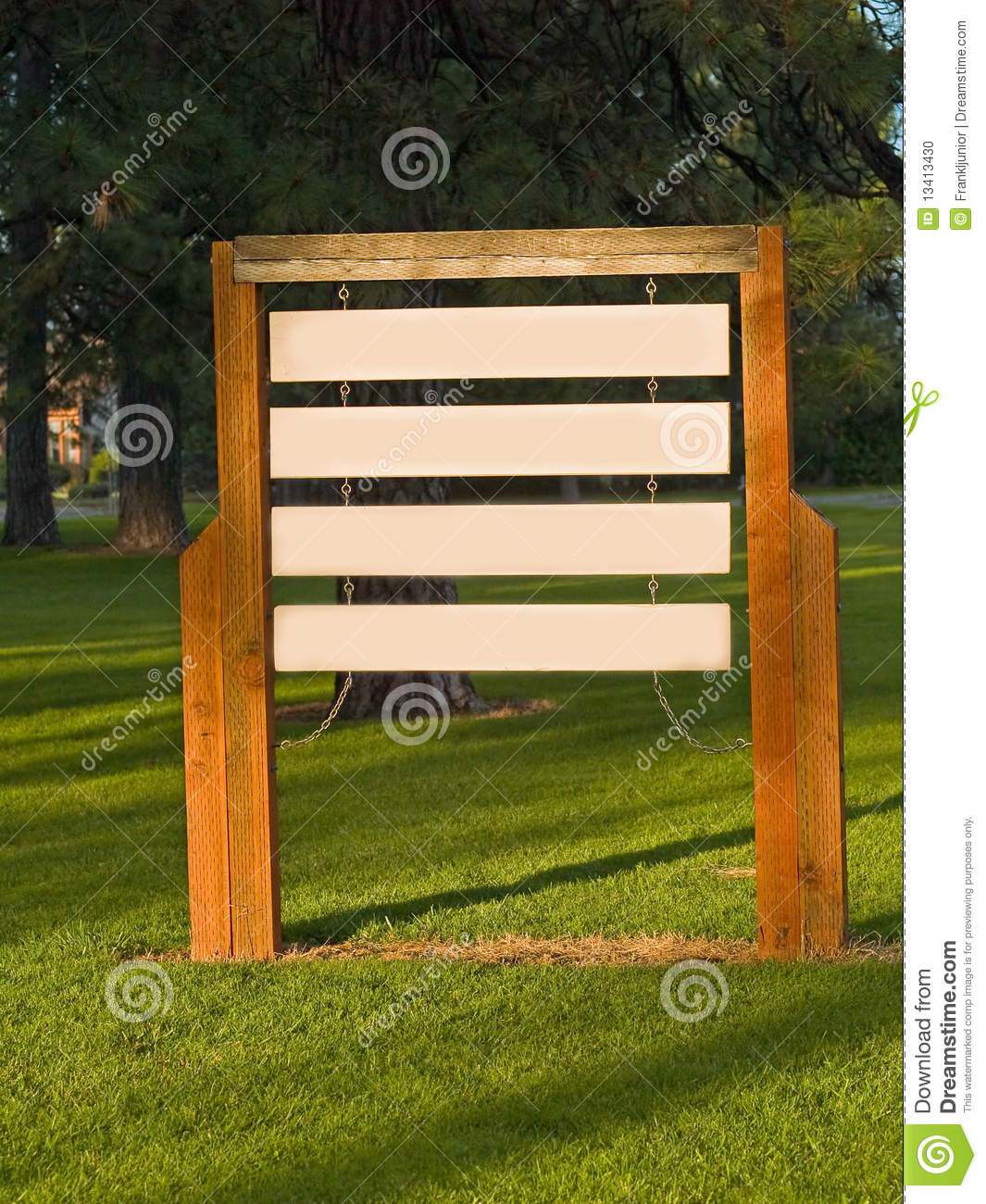 Blank Wooden Signs Stock Photo Image 13413430